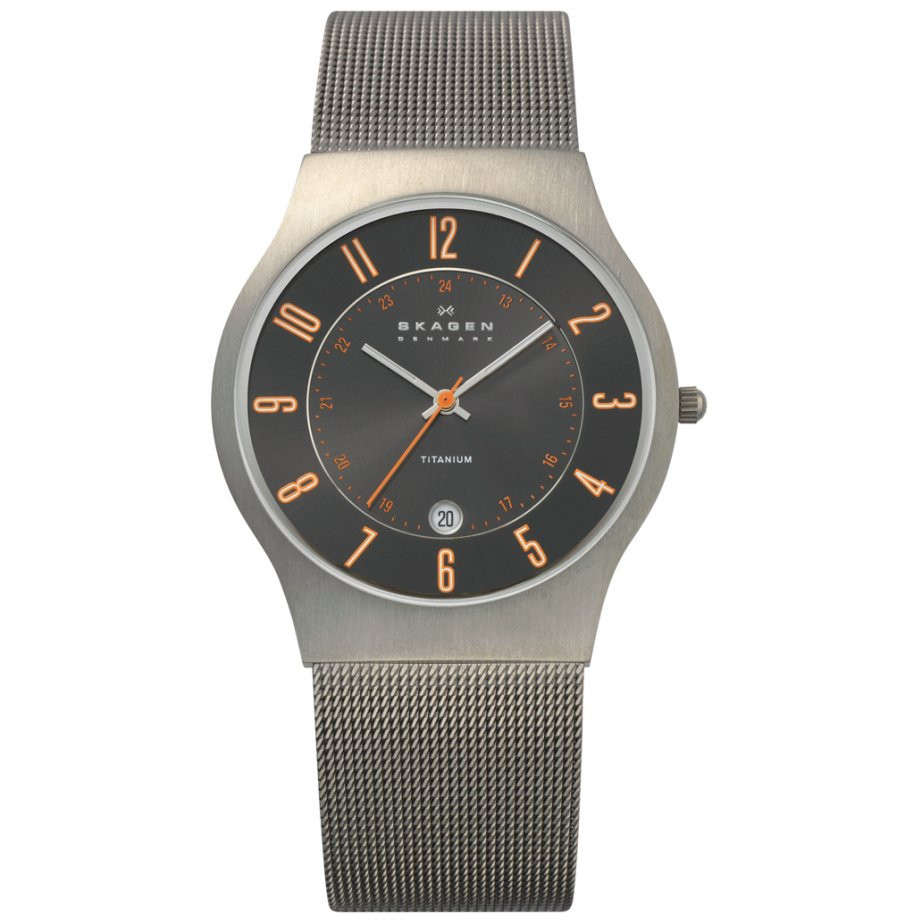 Product Review - Skagen Men's Titanium Grey Orange Watch 233XLTTMO