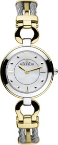 Michel Herbelin Ladies Stainless Steel and Gold Cable Maxi Watch 17425/BT19
