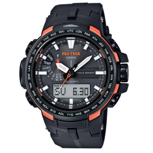 Pro Trek Mens Orange Triple Sensor Watch PRW-6100Y-1ER