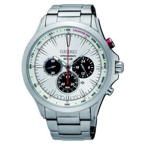 Seiko Mens Solar Chronograph Watch SSC491P1