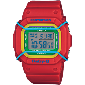 Red Baby-G Coloured Digital Dial Alarm Chronograph Watch BGD-501-4BER