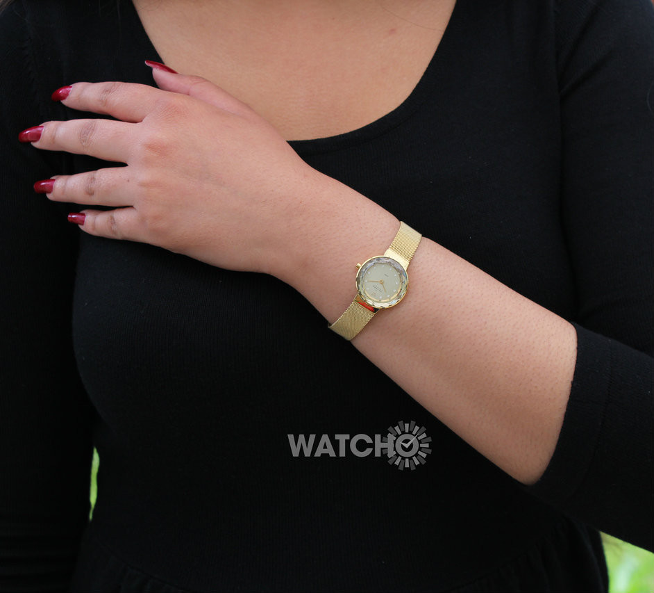 Watch Review - Skagen 456SGSG Ladies Gold-Tone Champagne Dial Watch