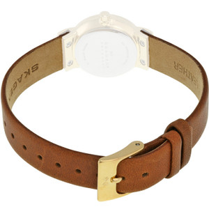 Skagen Genuine Replacement 12mm Brown Leather Strap For SKW2175