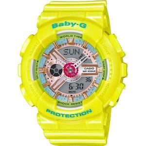 Baby-G Ladies Shimmering Neo Pastel Yellow Watch BA-110CA-9AER
