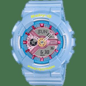 Baby-G Ladies Shimmering Neo Pastel Blue Watch BA-110CA-2AER
