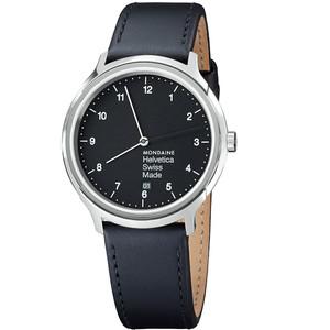 Mondaine Gents Helvetica Black Watch MH1.R2220.LB