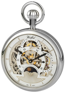 Woodford Skeleton Pocket Watch With Free Engraving 1050