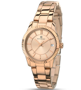 Accurist Women's Contemporary Watch with Rose Dial 8013