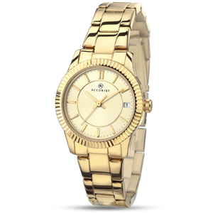 Accurist Women's Contemporary Watch with Champagne Dial 8012