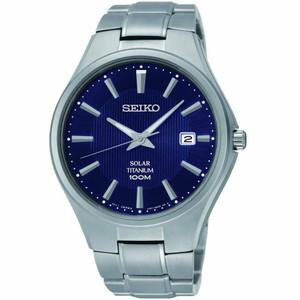 Seiko Mens Titanium Solar Powered Watch SNE381P9