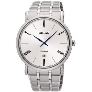 Seiko White Dial Mens Dress Watch SKP391P1
