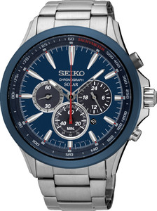Seiko Mens Solar Chronograph Watch SSC495P1