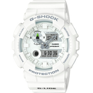 G-Shock Mens Tide Moon Whte Watch GAX-100A-7AER