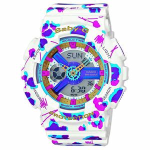 Baby-G Flowers Ladies Alarm Chronograph Watch BA-110FL-7AER