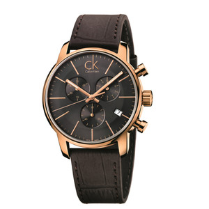 Calvin Klein Men's City Chronograph Watch with Black Dial