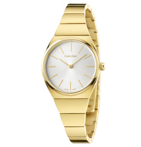 Calvin Klein Ladies Supreme Mini Watch with Silver Dial K6C23546