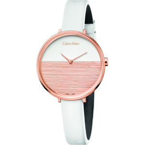 Calvin Klein Ladies Rise Watch with Leather Strap K7A236LH