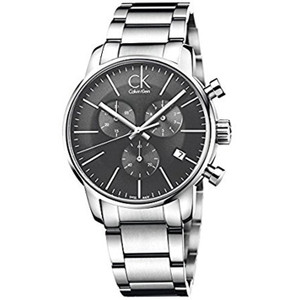 Calvin Klein Men's City Chronograph Watch with Black Dial K2G27143
