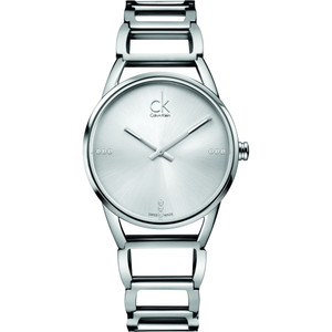 Calvin Klein Ladies Stately Watch with Silver Dial K3G23126