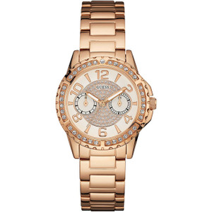 Guess Ladies Sassy Rose Gold Watch W0705L3
