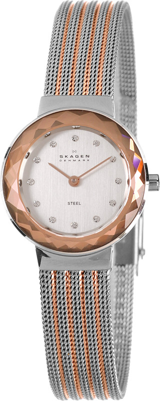 Watch Review - Skagen 456SRS1 Ladies Champagne Crystal Mesh Watch