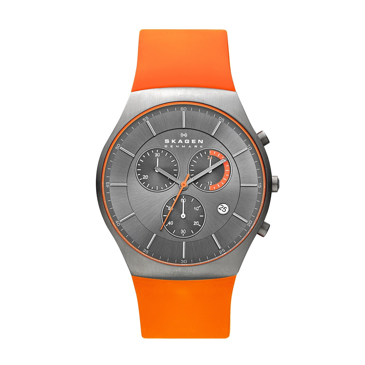 Watch Review - Skagen SKW6074 Aktiv Titanium Orange Watch Silicone Strap