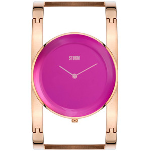Storm Amiah Rose Gold Ladies Stylish Silver Bangle Strap Watch