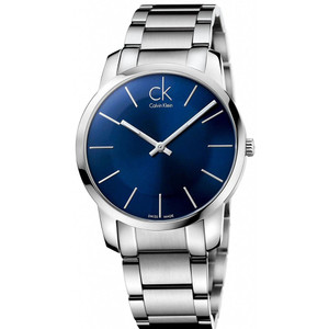 Calvin Klein Men's City Stainless Steel Blue Dial Watch K2G2114N