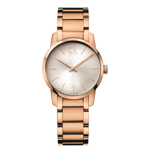 Calvin Klein Ladies City Rose Gold Watch K2G23646