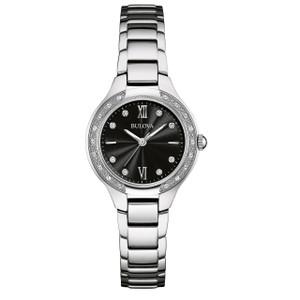 Bulova Ladies Silver Diamond Watch 96W207