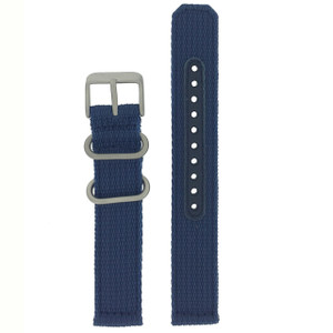 Seiko Replacement Strap Blue Nylon 18mm 4K12JZ With Free Pins