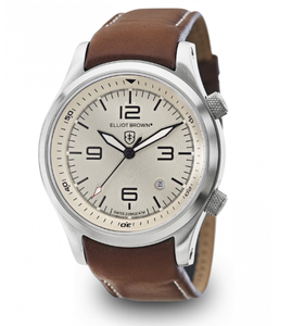 Elliot Brown Canford Mens Brown Leather Cream Watch 202-003-L03