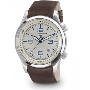 Elliot Brown Canford Mens Dark Brown Leather Blue Watch 202-001-L09