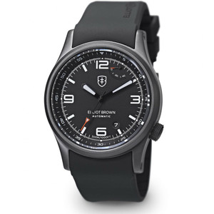 Elliot Brown Tyneham Automatic Mens Black Rubber Watch 305-D01-R06