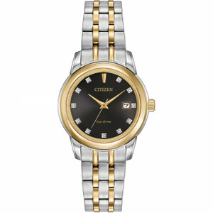Citizen Eco Drive Diamond Ladies Two Tone Watch EW2394-59E