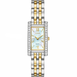 Citizen Silhouette Ladies Eco Drive Crystal Watch EX1474-85D