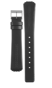 Skagen Replacement Black Leather Watch Strap for 433SSLC with Free Connecting Screws