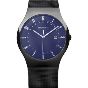Bering Mens Blue Dial Solar Powered Classic Watch 14640-277