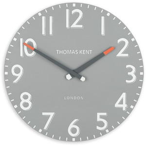 Thomas Kent Clocks Pimlico 38cm Wall Clock Steel Grey