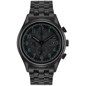 Citizen Men's Eco-Drive Chronograph Black Dial Watch CA0625-55E