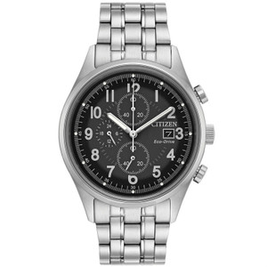 Citizen Mens Eco Drive Black Dial Bracelet Watch CA0620-59H