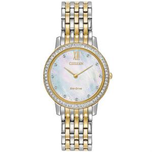 Citizen Ladies Swarovski Eco Drive Silhouette Watch EX1484-57D