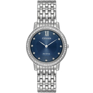 Citizen Ladies Swarovski Eco Drive Silhouette Watch EX1480-58L