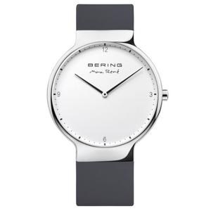 Bering Mens Max Rene Designed Black Rubber Watch 15540-400