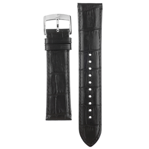 Armani Replacement Watch Strap Black Textured Leather 18mm For AR1703 With Free Connecting Pins