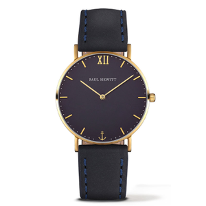Paul Hewitt Sailor Line Unisex Navy Blue Dial And Leather Strap Watch PH-SA-G-ST-B-11M