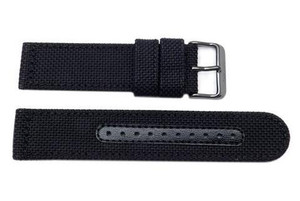 Seiko Black Nylon Replacement 22m Watch Strap For SSC233