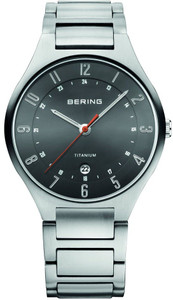 Bering Men's Titanium Date Display Grey Dial Watch 11739-772