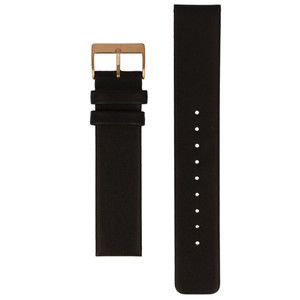 Bering 20mm Black Leather Replacement Strap for 33840-446
