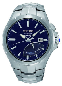 Seiko Mens Coutura Kinetic Blue Dial Watch SRN067P1